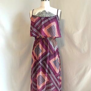 Colorfull High Low Maxi Dress
